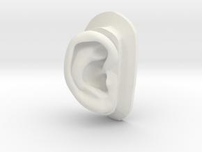 DIY Binaural Ear + Canal Anatomically Accurate - R in White Natural Versatile Plastic