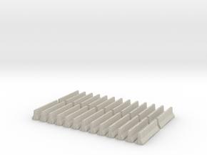 Jersey Barrier HO Scale. Set of 24. in Natural Sandstone