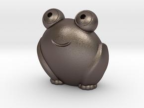 Pocket frog (v2) in Polished Bronzed-Silver Steel