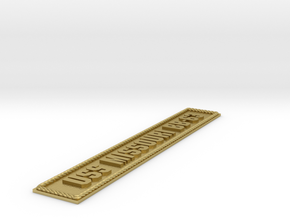 Nameplate USS Missouri BB-63 (large) in Natural Brass
