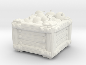 Apple Crate A in White Natural Versatile Plastic