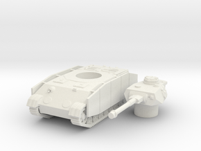 Panzer IV K (side skirts) scale 1/87 in White Natural Versatile Plastic
