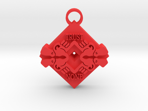 Trust None pendant 2 in Red Processed Versatile Plastic