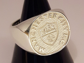 Champions Ring Size U. 19.95mm. Silver. in Polished Silver