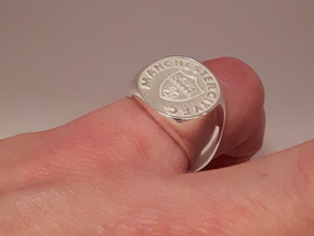 Champions Ring Size J. 15.5mm. Silver. in Polished Silver
