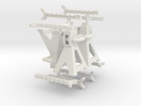 Jack Stands 1/16th scale in White Natural Versatile Plastic