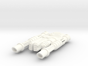 Malkorian Type 2 Starship in White Processed Versatile Plastic