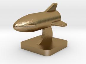 Mini Space Program, BFR v3 Flight in Polished Gold Steel