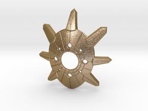 Balder's Mask Keychain in Polished Gold Steel