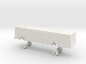 HO Scale Bus Gillig Low Floor St. Louis 2070s in White Natural Versatile Plastic