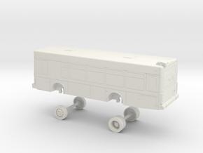 HO Scale Bus Gillig Low Floor Bangor 1700s in White Natural Versatile Plastic