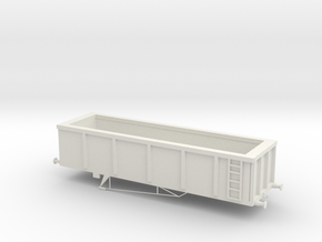 OO scale MKA Wagon in White Natural Versatile Plastic