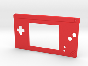 Gameboy Macro Faceplate V2 (DS Lite) - 2 Buttons in Red Processed Versatile Plastic