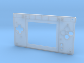 Gameboy Macro Faceplate V2 (DS Lite) - 2 Buttons in Smooth Fine Detail Plastic