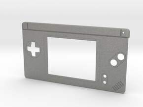Gameboy Macro Faceplate V2 (DS Lite) - 2 Buttons in Gray Professional Plastic