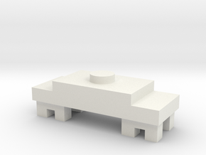 00 Unpowered Tender Chassis in White Natural Versatile Plastic