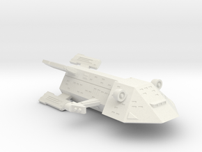 3125 Scale Kzinti Heavy War Destroyer (HDW) SRZ in White Natural Versatile Plastic