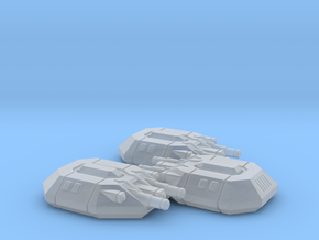 Angular Dropship Turrets (3) in Smooth Fine Detail Plastic