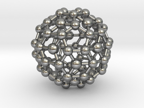 Buckyball (minimum size 0.8mm) in Natural Silver