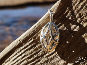 Serenity Pendant in Polished Silver