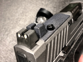 Sighted Optic Plate for SIG Romeo P320/P226 RX  in Matte Black Steel