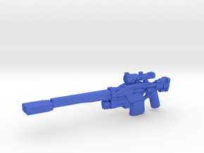Aachen Sniper Rifle in Blue Processed Versatile Plastic