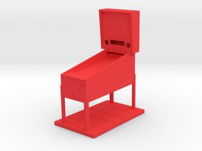 Trophy - Mini Pinball Cabinet v4 - 1:20 Scale in Red Processed Versatile Plastic