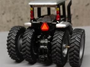 """1/64 Scale 42"""" Silver Rear Wheels & Tires in Smooth Fine Detail Plastic"""