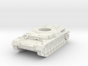 Panzer IV hull (hollow) scale 1/100 in White Natural Versatile Plastic