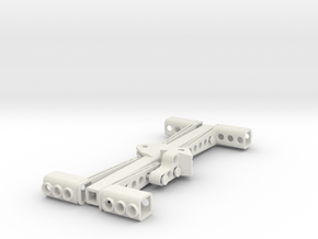 Towing Fork for 19 wide scale Technic Trucks in White Natural Versatile Plastic
