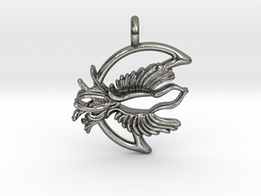 Fly Free Nightbird Pendant. in Polished Silver