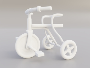 Kids tricycle in White Natural Versatile Plastic
