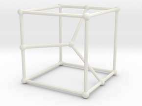 Cubic graph on 12 vertices with girth = 5, no. 2 in White Natural Versatile Plastic: Large