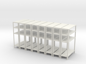 1:18 shelves solid x8 in White Natural Versatile Plastic