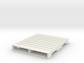 1:18 pallet US in White Natural Versatile Plastic