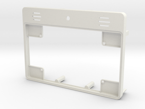 Raspberry Pi Tablet Case - Lid in White Natural Versatile Plastic