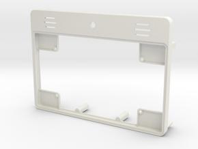 Raspberry Pi Tablet Case - Lid in White Natural Versatile Plastic