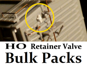 HO Retainer Valve Bulk Packs in Smoothest Fine Detail Plastic: Small