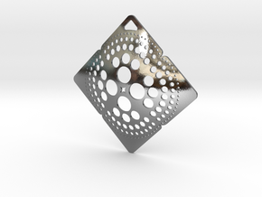 Punched Pendant Condition 1 in Polished Silver