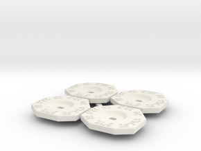 1:28 Bodenfreiheit Einstellscheiben / Ride hight s in White Natural Versatile Plastic: 1:28