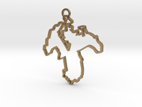 Massachusetts district 8 pendant, 7cm in Polished Gold Steel