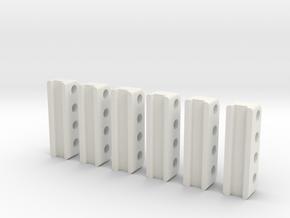Sennebogen 718 pipe bracket set in White Natural Versatile Plastic: 1:50