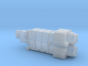 UNSC Halcyon Cruiser in Smooth Fine Detail Plastic