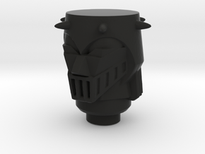 Baron Karza Head for New Microman in Black Natural Versatile Plastic