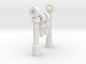Beam Tripler Legs Pair in White Natural Versatile Plastic
