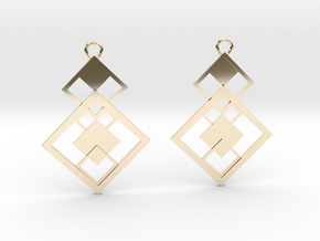 Geometrical earrings no.7 in 14K Yellow Gold: Small