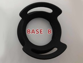 BASE - B - ( Ornament Series ) in Black Natural Versatile Plastic