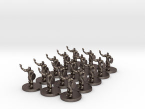 Game of Thrones Risk Pieces - Braavos in Polished Bronzed Silver Steel