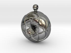FOL TOROIDE SKIN in Fine Detail Polished Silver