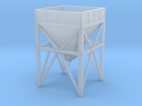 N Scale aggregate hopper #1 80% in Smooth Fine Detail Plastic